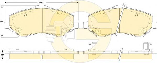 6146059 Колодки тормозные CHRYSLER VOYAGER/DODGE JOURNEY/NITRO/WRANGLER 07- передние