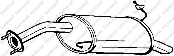 165287 Глушитель HYUNDAI GETZ 1.1-1.6 02-