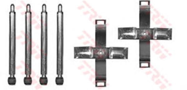 PFK387 Пружины прижимные дисковых колодок к-т.OPEL OMEGA B 94-03 зад.