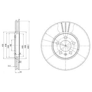 BG2729 Тормозной диск 2шт в упаковке