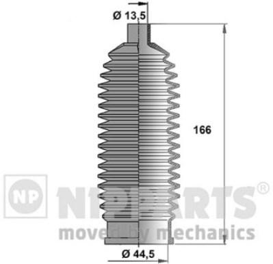 J2841014 Пыльник рулевой рейки NISSAN NOTE/TIIDA / MICRA III