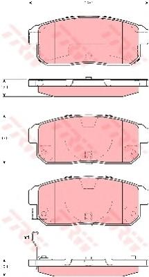 GDB3357 Колодки тормозные MAZDA RX8 2.6 03-/SUZUKI IGNIS 1.3/1.5 00- задние