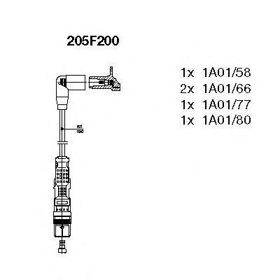 205f200 Комплект проводов зажигания