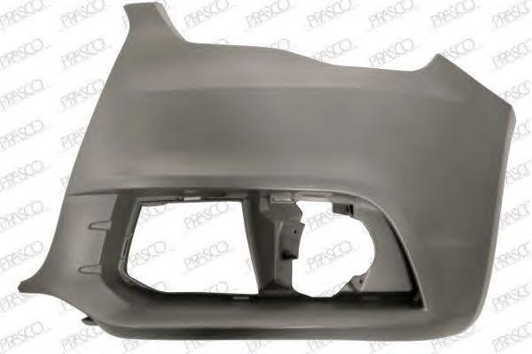 AD1201104 Бампер передний, левая часть (для а/м без омывателя фар) / AUDI A1 10~