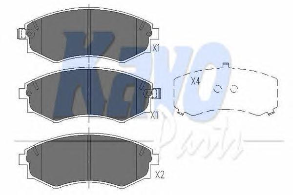 KBP7504 Колодки тормозные SSANGYONG KORANDO/MUSSO/REXTON 98- передние
