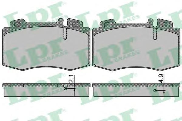 05P849 Колодки тормозные MERCEDES C209/W203/W211/W220/R171/R230 передние