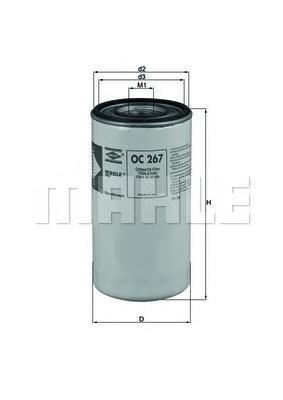OC267 Фильтр масляный IVECO