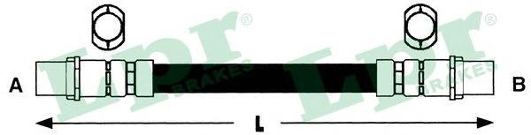 6T46269 Шланг торм М10х1х285mm пер A80/90 (F18872)