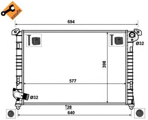 53807 Радиатор MINI One/Cooper +AC 01-