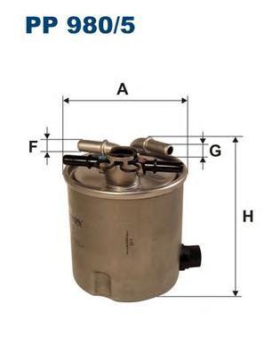 PP9805 Фильтр топливный RENAULT LOGAN/SANDERO 1.5D 05-