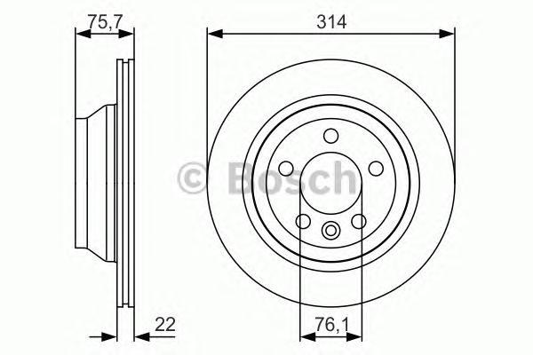 0986479S54 Диск тормозной VW TOUAREG 02-10/TRANSPORTER V 03-09 задний D=315мм.