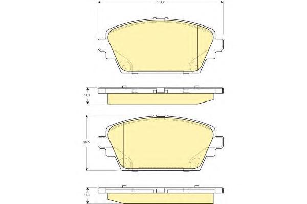 6132271 Колодки тормозные NISSAN PRIMERA (P12) 02/ALMERA TINO 0005 передние