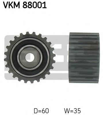 VKM88001 Ролик ремня ГРМ IMPRESA/FORESTER 1.6-2.5