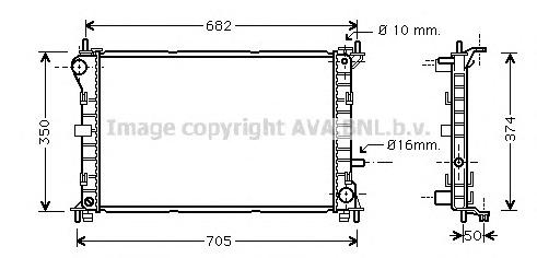 FD2379 Радиатор FORD FOCUS 1.6/2.0 98-04