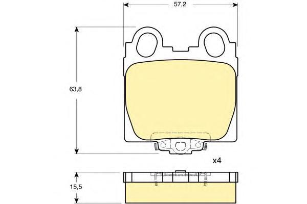 6132339 Колодки тормозные LEXUS GS 3.0-4.3 97-/IS 2.0-3.0 99- задние