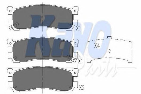 KBP4543 Колодки тормозные MAZDA 626 87-97/929 87-91/XEDOS 9/MPV 95-99 задние
