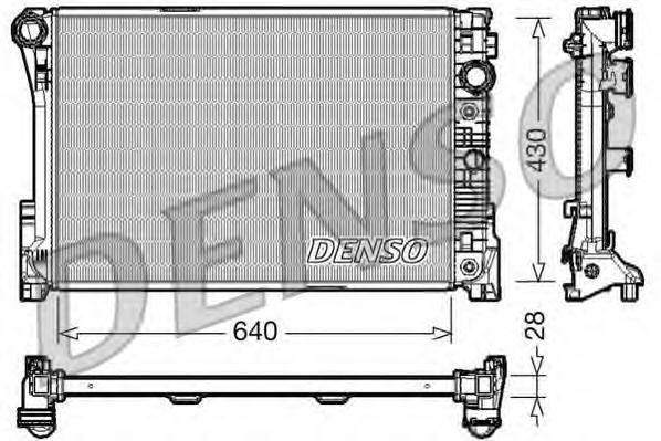 DRM17043 Радиатор MB W204/W212 1.8-3.5/2.0-2.2D A/T 07-