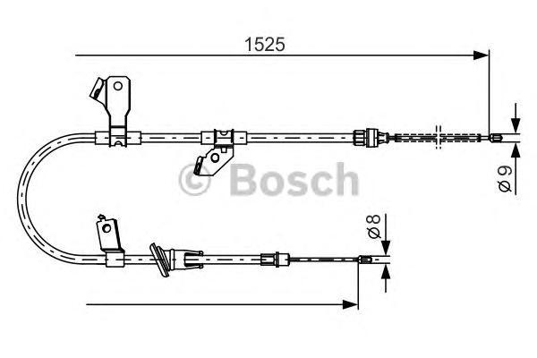 1987482247 Трос ручного тормоза MITSUBISHI COLT 04- 1525мм