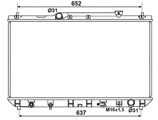 53374 Радиатор TO Camry 2,2 98-01 (-AC) АКПП