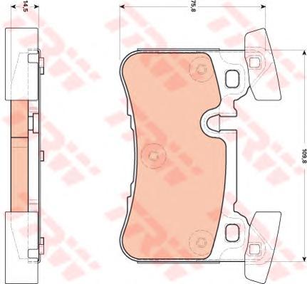 GDB1856 Колодки тормозные W204/C218/W212 63AMG 08- задние