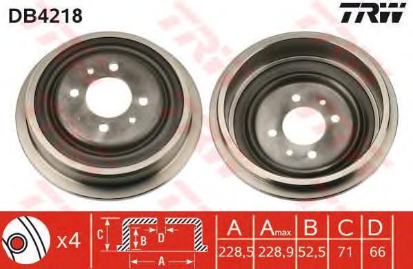 DB4218 Барабан торм. RENAULT KANGOO 97=