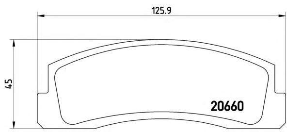 P41002 Колодки тормозные CHEVROLET NIVA/ ВАЗ 2121 передние