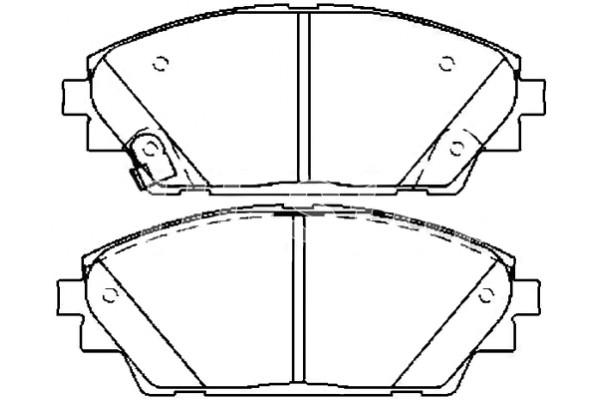 BHY13328ZA Колодки тормозные перед Mazda-3 2013-