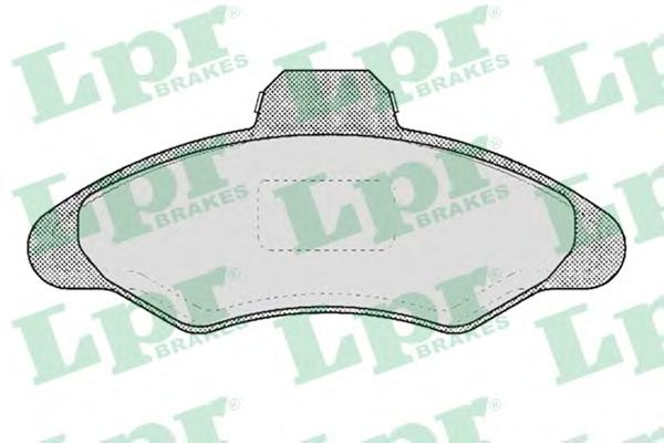 05P383 Колодки тормозные FORD ESCORT 90-00 передние