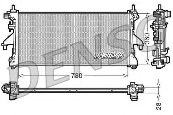 DRM21101 Радиатор системы охлаждения CITROEN: JUMPER c бортовой платформой/ходовая часть 2.2 HDi 100/2.2 HDi 120/3.0 HDi 160 06