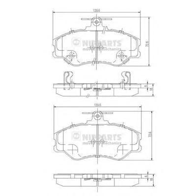 J3600513 Колодки тормозные HYUNDAI H100/PORTER передние