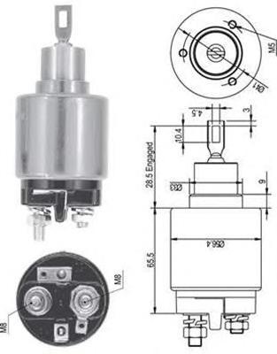 940113050126 AME0126 Реле втягивающее AUDI 80/100/VW/FORD ESCORT/FIESTA/OPEL OMEGA/CORSA