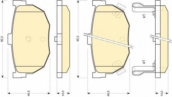 6110109 Колодки тормозные HYUNDAI ELANTRA 00-/LANTRA 90-00/KIA CERATO 04- задние