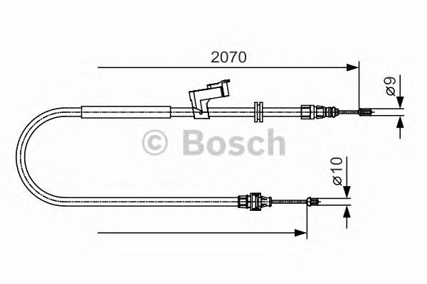 1987482133 Трос ручного тормоза FORD S-MAX 06- 2070мм