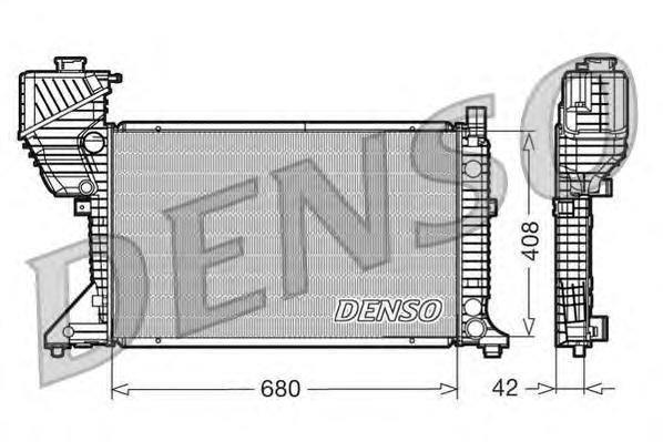 DRM17011 Радиатор системы охлаждения MERCEDES-BENZ: SPRINTER 2-t c бортовой платформой/ходовая часть (901, 902) 208 CDI/211 CDI/