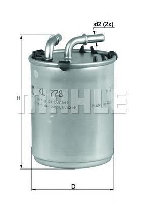KL778 Фильтр топливный VW POLO/SEAT IBIZA/SKODA ROOMSTER 1.2TDI 09-