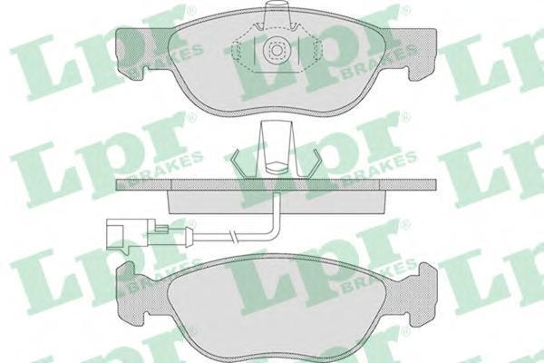 05P646 Колодки тормозные ALFA 145/146/FIAT BRAVO -01/PUNTO 01- передние с датчиком