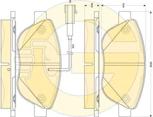 6118794 Колодки тормозные FIAT 500 10-/PUNTO 08- передние