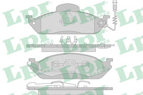 05P983 Колодки тормозные MERCEDES W163 ML230-ML430 передние