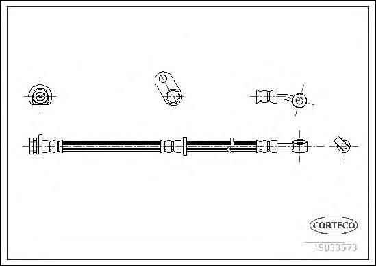19033573 Шланг тормозной HONDA