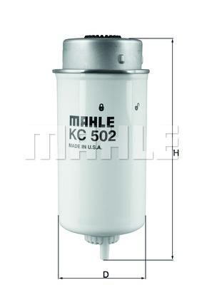 KC502 Фильтр топливный FORD TRANSIT 2.0/2.4 DI -06