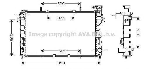 CR2077 Радиатор DODGE CARAVAN 3.3/3.8 00-