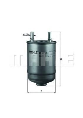 KL4855D Фильтр топливный RENAULT FLUENCE/MEGANE/SCENIC 1.5D-2.0D 08-