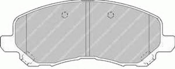 FDB1621 Колодки тормозные MITSUBISHI ASX/LANCER/OUTLANDER/DODGE CALIBER передние