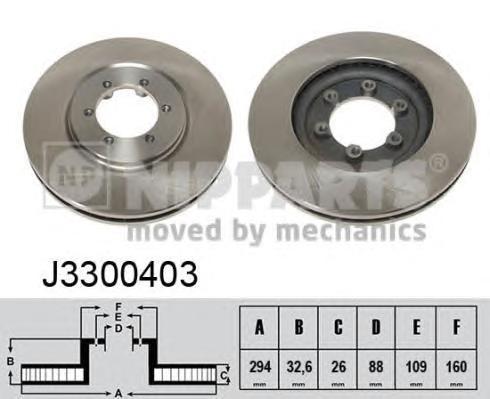 J3300403 Диск тормозной SSANG YONG REXTON 02- передний вент.