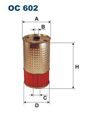 OC602 Фильтр масляный MB W202/124/463/T1/SSANGYONG MUSSO/KORANDO D/TD