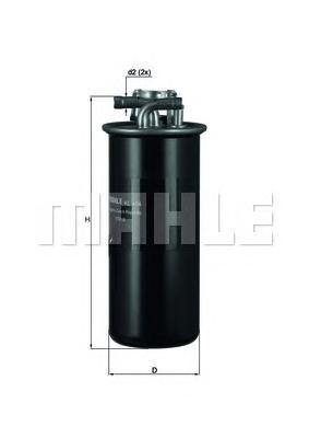 KL454 Фильтр топливный AUDI A6 2.7-3.0 TDI