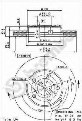 09918510 Диск тормозной передний TOYOTA RAV 4 II