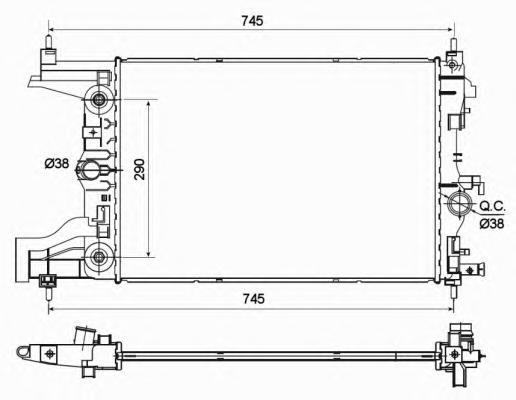 53122 Радиатор OP Astra J, Chevr Cruze 1.6