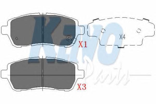 KBP1514 Колодки тормозные FORD FIESTA 08-/MAZDA 2 07- передние