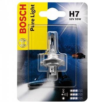 1987301012 Лампа H7 55W PX26d Pure Light (blister 1шт.)